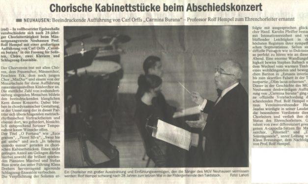 Carmina Burana Presseecho / Esslinger Zeitung