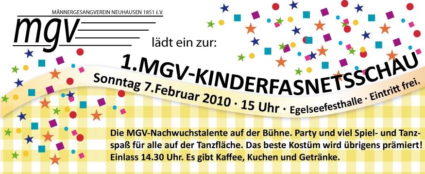 Erste MGV Kinderfasnetsschau