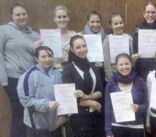 Neue lizenzierte Trainerinnen beim MGV