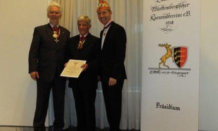 """Hans Jaudas erhält den """"Hirsch am Goldenen Vlies"""""""