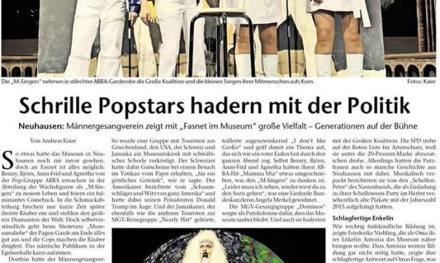 EZ: Schrille Popstars hadern mit der Politik