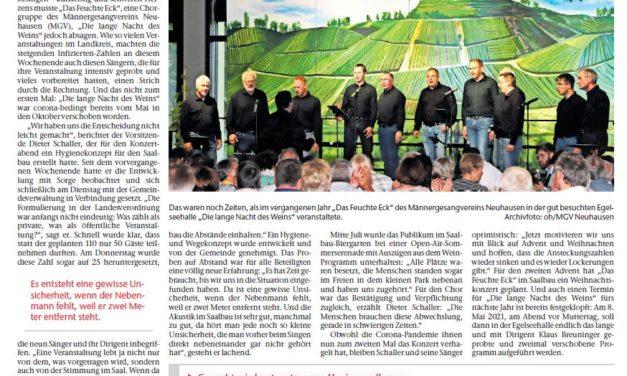 """EZ: """"Die Enttäuschung ist groß"""" – Bericht zur Absage der Langen Nacht des Weins"""