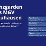 Trainingsbeginn der MGV-Tanzgruppen 2021