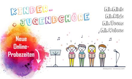 MGV Kinder- und Jugendchöre: Online-Probezeiten