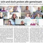 """EZ: """"Jeder singt für sich und doch proben alle gemeinsam"""" – Bericht zur Online-Probearbeit in Pandemie-Zeiten"""