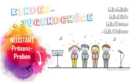 Neustart Kinder- und Jugendchöre: Neue Probezeiten!