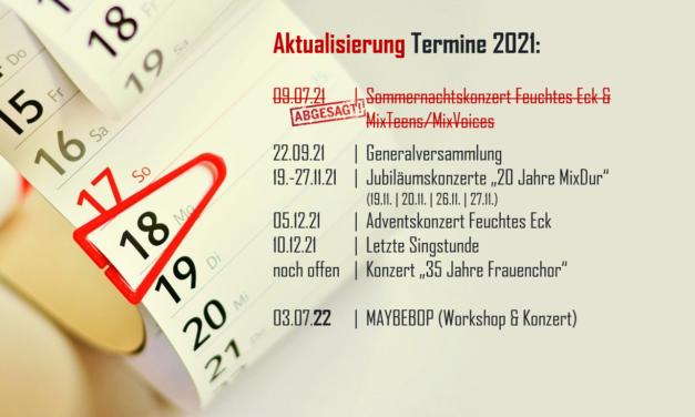 Termine 2021: Sommernachtskonzert abgesagt